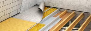 Flocage isolation plancher