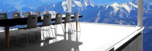 Séminaire d'entreprise dans les montagnes