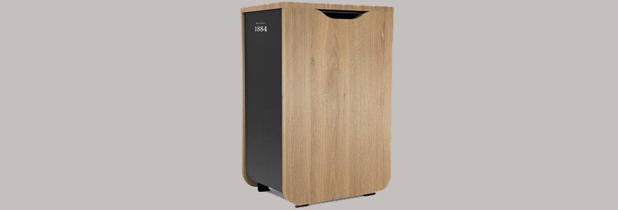poubelle en bois écologique